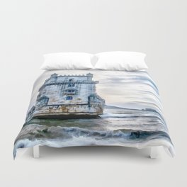 Belém Tower, Lisbon (Portugal) Duvet Cover