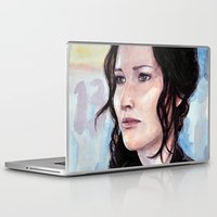 katniss Laptop & iPad Skins featuring Katniss Everdeen by Alina Rubanenko