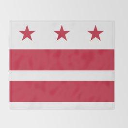 Washington D.C.: Washington D.C. Flag Throw Blanket