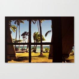Tropical Fiji Beach Scene Canvas Print