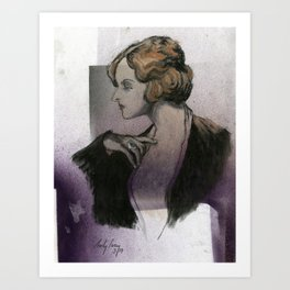 Woman with a Ring Art Print