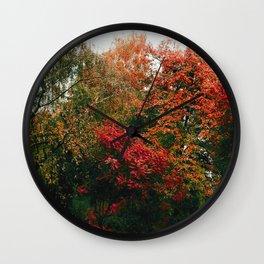 Autumn in the Garden Wall Clock