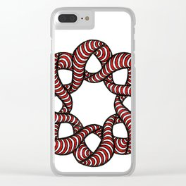 Red Loops Clear iPhone Case