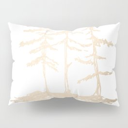Three Sisters Forest White Gold Trees Pillow Sham