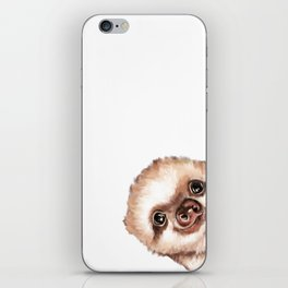 Sneaky Baby Sloth iPhone Skin
