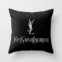ysl Throw Pillows featuring YSL by I Love Decor