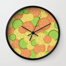 Zesty Pattern Wall Clock