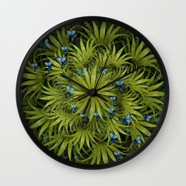 """El Bosco fantasy, tropical island blue butterflies"" Wall Clock"
