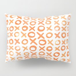 Xoxo valentine's day - orange Pillow Sham