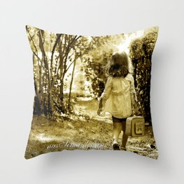 Angel of Hope & Lily Gold Throw Pillow