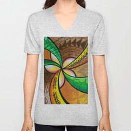 Abstract Pua Unisex V-Neck