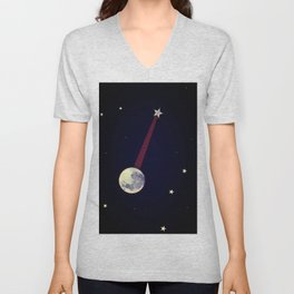Moon Banjo Unisex V-Neck
