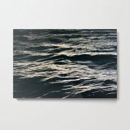 Stormy Seas- Dark Wave Photography Metal Print