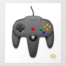 Nintendo 64 Art Print