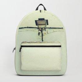 Retro white streetlight Backpack