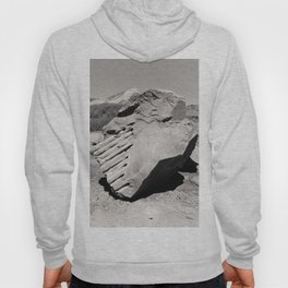 Dynamite Rock Quarry Boulder Oregon Landscape Sepia Geology Geomtric Rock Hoody