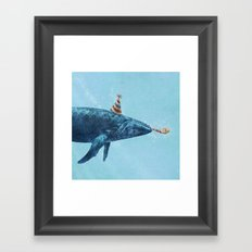 Party Whale  Framed Art Print