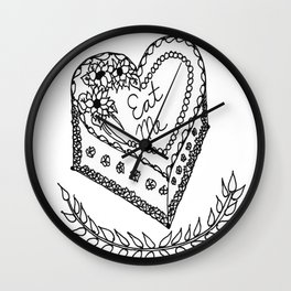 'Eat Me' Cake-- Deliver them SASS! ;) Wall Clock