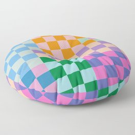 Checkerboard Collage Floor Pillow