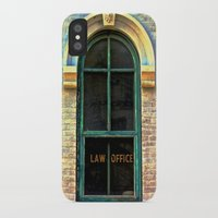 law iPhone & iPod Cases featuring Law Office by Biff Rendar
