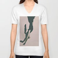 alice V-neck T-shirts featuring Alice by Jane Lacey Smith