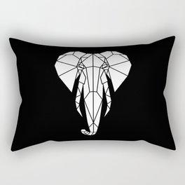 Geometric Elephant Head | B&W Rectangular Pillow