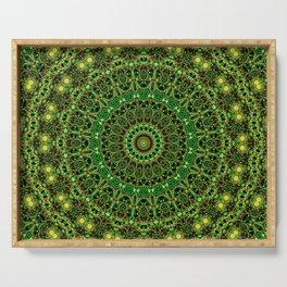 Forest Light Mandala Serving Tray