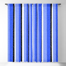 Speckled Blue Vertical Line Pattern Blackout Curtain
