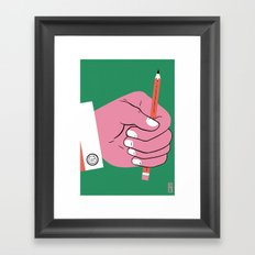 Draw on!! Framed Art Print
