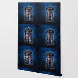 Union Jack Public Phone Booth Wallpaper