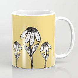 Cute Sad Drooping Hand Drawn Flowers Coffee Mug