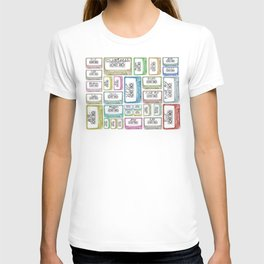 Tape Mix 2 Vintage Cassette Music Collection T-shirt