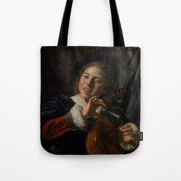 Frans Hals - Lute Playing Boy - Renaissance Fine Art Retro Vintage Oil Painting Tote Bag