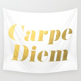 Carpe Diem (Gold) Wall Tapestry