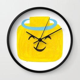 Emoji Minifigure Angel Devil Wall Clock