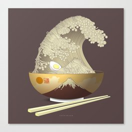 The Great Ramen Wave Canvas Print