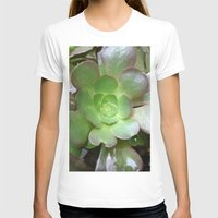 succulent T-shirts featuring Succulent Plant by Sara Valor