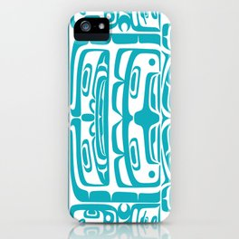 Bentwood Box Teal Formline iPhone Case