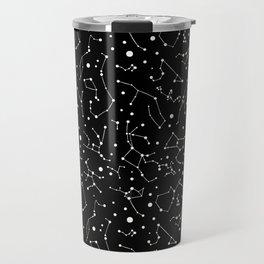 Zodiac Signs Constellations B&W Travel Mug
