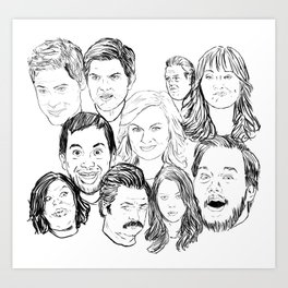 Parks and Recreation 'Rec a Sketch' Art Print
