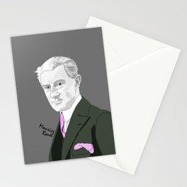 Maurice Ravel (Gray Background) Stationery Cards