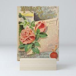garden 005 Letter  paper  page  Rose  sealing wax6 Mini Art Print