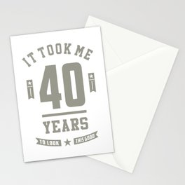 40 Years Old Birthday Gift Stationery Cards