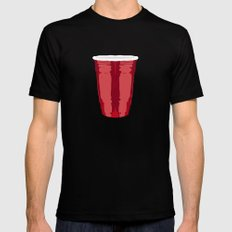 Clarity Cup Red (Big) Black LARGE Mens Fitted Tee