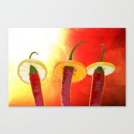 The Red, the Hot, the Chili Canvas Print
