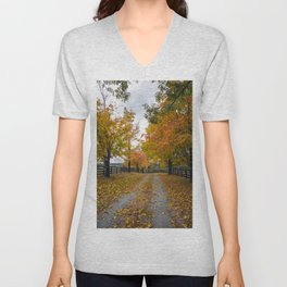 Autumn Driveway Unisex V-Neck