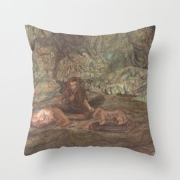 Light in the darkness. Throw Pillow