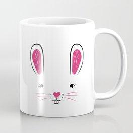Happy Easter Bunny Face Coffee Mug
