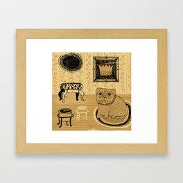 Princess. French bullmastiff Framed Art Print