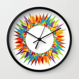 Explosion of Blooming Spring Colors Wall Clock